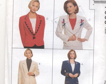 Womens Jacket and Skirt sewing Pattern McCalls 7908