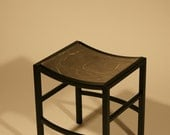 Custom Small Steel Stool with Polished Top