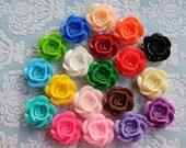Reserved for Grace Johnston --- 38 pcs Assorted Colour 18mm Flower Cabochon- Australia