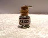 Small Jar of Pixel Awesomeness - 0.5ml Bottle Charm Glitter Necklace