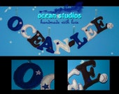 Personalized Felt Baby Name Banner Custom Nursery Playroom Wallhanging Decor Unique Gift