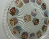 cake plate / party / large glass plate / serving platter for sweets cakes