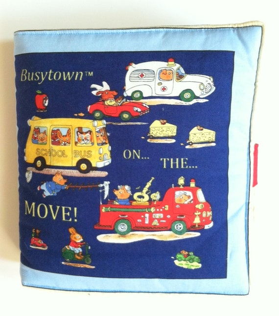 Children's Cloth Book Soft Pillow Richard Scarry Busy Town on the Move  Kids