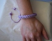 Lilac French Knitted Wrist Band