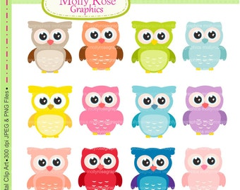SALE owls clip art , Digital Clip Art owls, Personal and Small Commercial Use, Invitations, Card Making, Scrapbooking  M.17