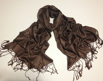 dark-brown pashmina scarf, dark-brown pashmina shawl, brownfashion scarf, pashmina scarf, pashmina shawl, scarf, shawl