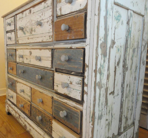 Items Similar To Primitive Apothecary Dresser Cabinet