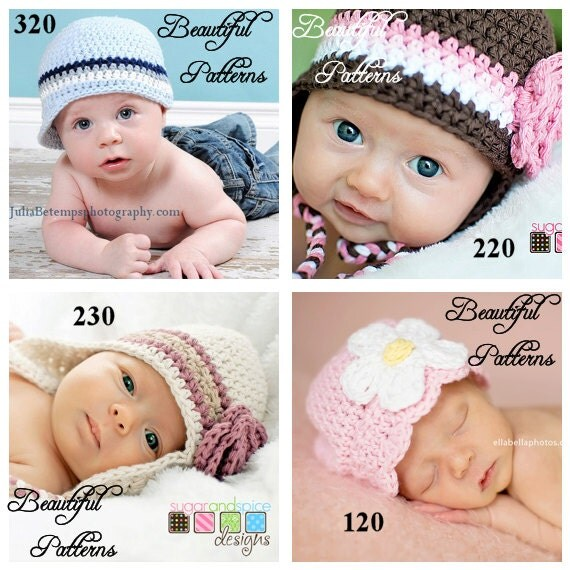 Crochet Hat Pattern 2 For 9.00 Crochet Patterns PDF Sale Pack Combo Deal - Right to Sell Finished Items
