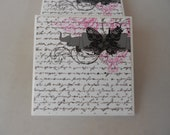 Black Bow Pink Lace Ceramic Coasters Set of 4