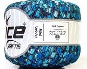 ICE Brand Mini Ladder Blue Rivers Crochet Yarn