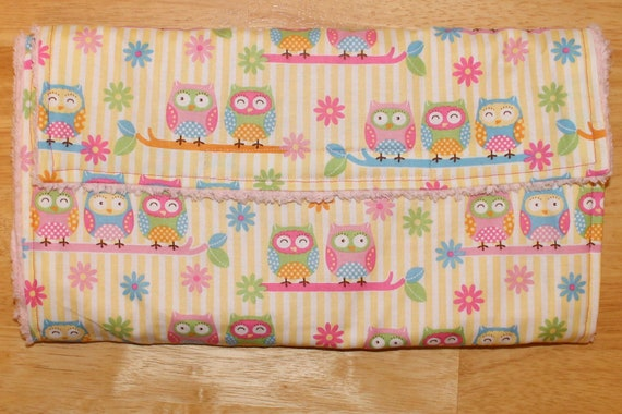 Owl Diaper Changing Pad Rollup - Clutch