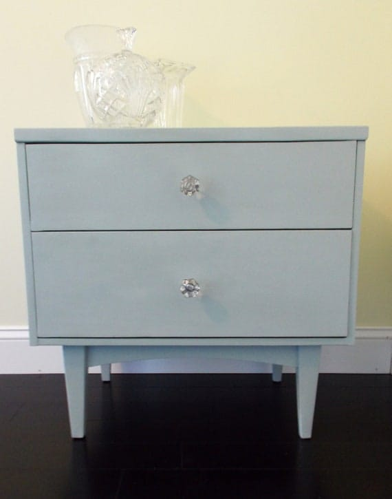 Vintage Nightstand with Glass Knobs
