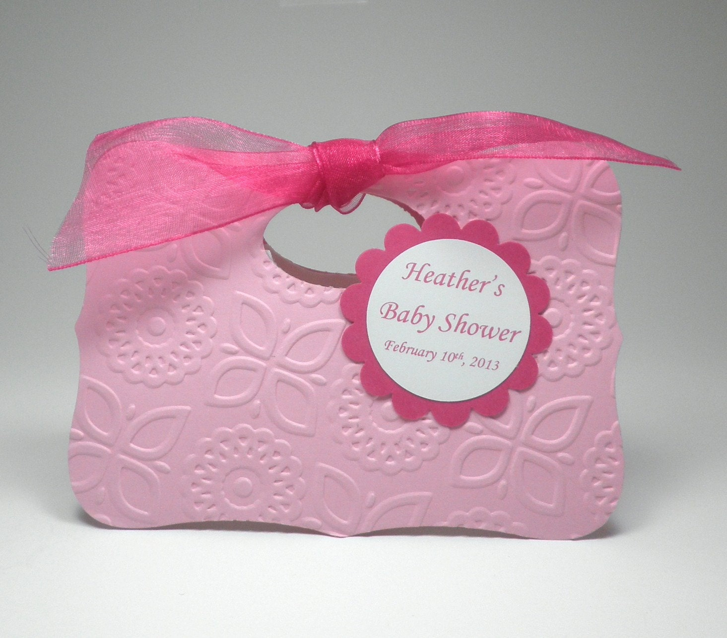 Pretty In Pink Baby Girl Shower Favor Bag Box