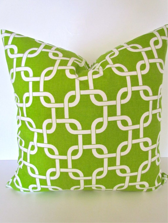 PILLOWS Green Throw Pillows Chartreuse Green Pillow Cover Green Pillow Covers 16 18x18 20 Lime Green Pillow Covers .SALE. Home and Living