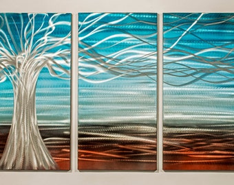 Modern Abstract Painting Metal Wall Art Sculpture Floating Tree II
