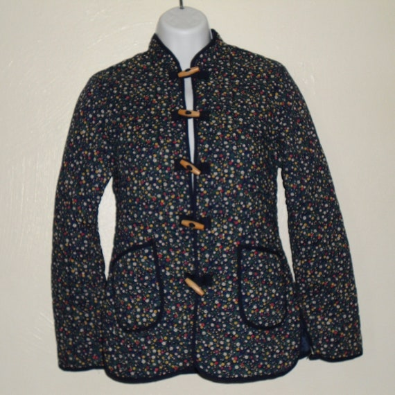 70's/ 80's quitted floral fitted jacket