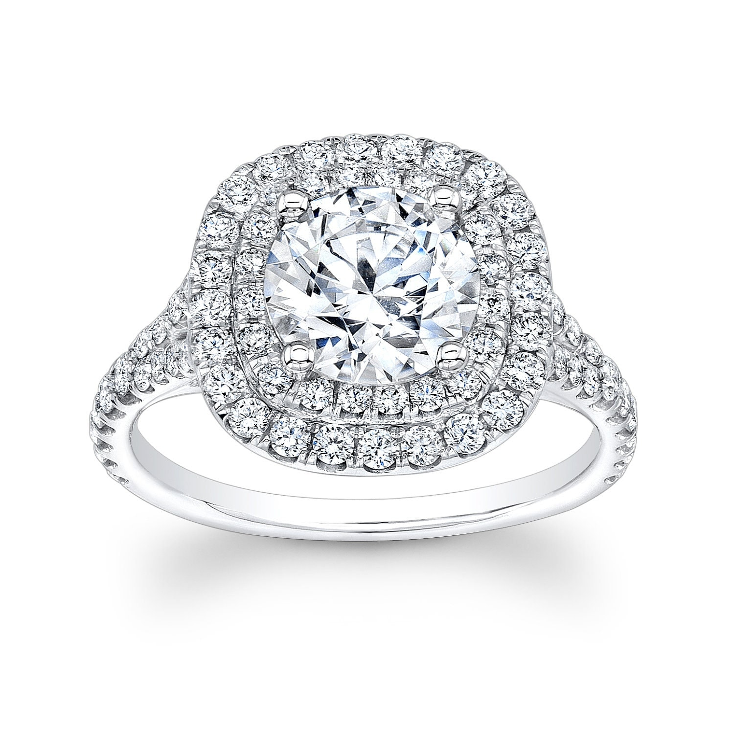 Women s platinum engagement ring with 1 50ct Round