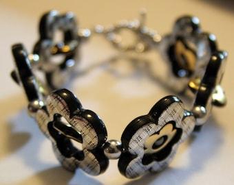 Hematite Flower Bracelet