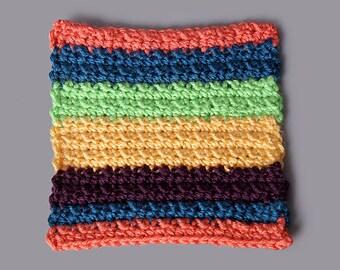 PDF PATTERN FILE - 6x6 Inch Textured Stripes Square Pattern