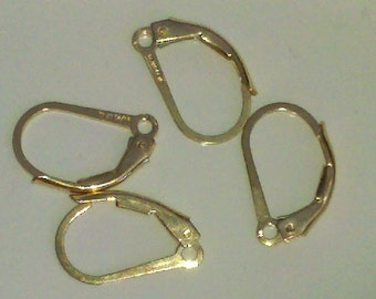 2  pair 14k Gold Filled Leverback Earwires Made In The USA