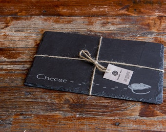 Welsh Slate Cheese Board 'Cheese'