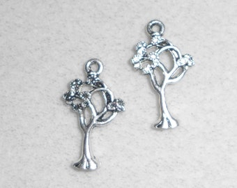 Silver Tree Charms