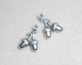 Silver Acorn Charms