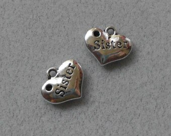 """Silver """"Sister"""" Charms"""