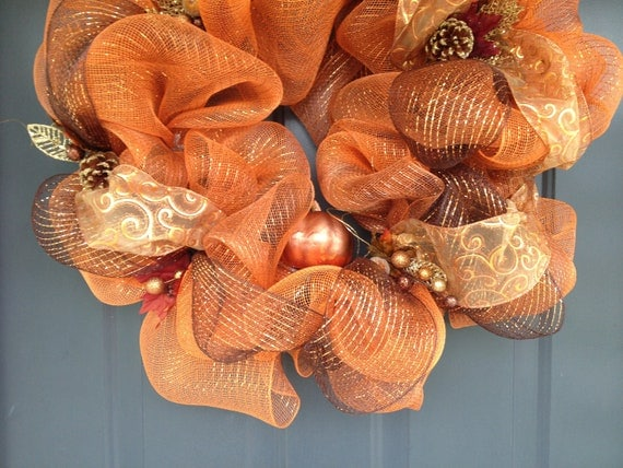 Autumn Deco Mesh Wreath perfect for fall