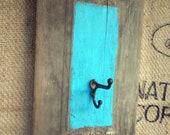Rustic Teal Wall Hook