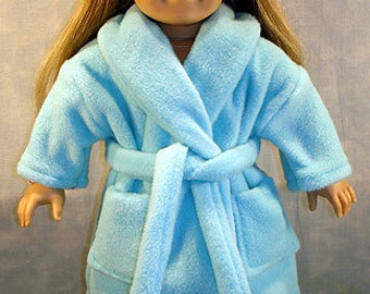 Polar Fleece Housecoat Blue made to fit 18 inch dolls