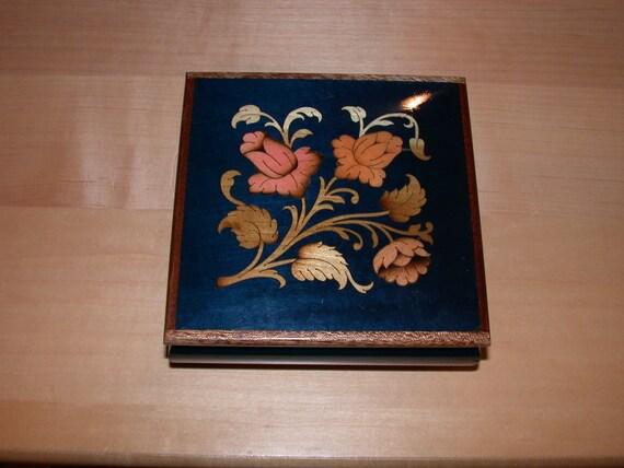 Inlaid Wood Music/Jewelry Box
