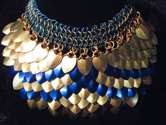 Scalemail Necklace with Chainmail Choker