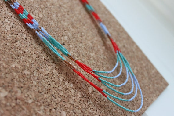 Multi Strand Beaded Necklace- Reserved for seaEtsy