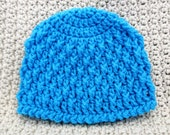 Blue Deeply Textured Newborn Hat Ready To Ship