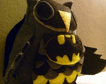 Batman Inspired Owl Plush