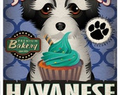 Havanese Cupcake Company Original Art Print - Custom Dog Breed Print -11x14- Customize with Your Dog's Name - Dogs Incorporated