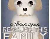 A Lhasa Apso Rescued This Family 11x14 - Custom Dog Print - Personalize with Your Dog's Name
