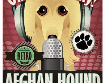 Afghan Hound Studio Original Art Print - Custom Dog Breed Print - 11x14 - Personalize with Your Dog's Name