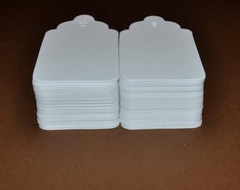"100 Medium Blank Tag, Wedding Wish Tree Tag,  2.75"" x 1.5"" White Gift Tags, Hang Tags, Price Tags,"