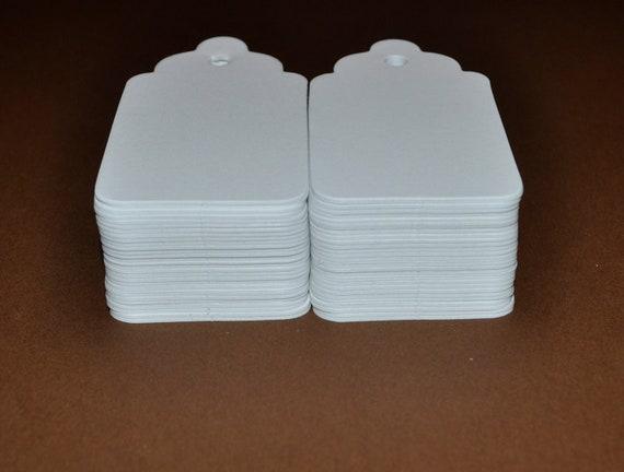 200 Medium Blank Tag, White Gift Tags, Hang Tags, Price Tags,   No.57