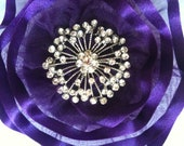 Women's Purple Kippah Purple Yarmulke Girl's Bat Mitzvah Kippot  Rhinestone Kippa