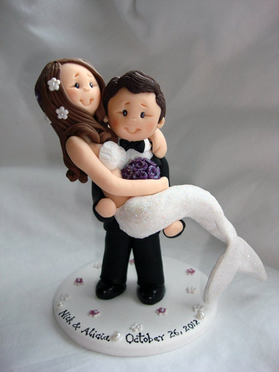 Personalised bride and groom wedding cake topper-Taking orders for April 2014 onwards Only