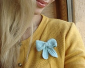 Pin Brooch Crochet Bow Pastel Colours