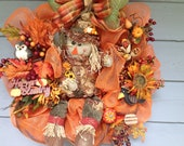 Fall Scarecrow Wreath and Friends