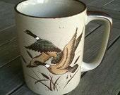 Vintage Otagiri Mug, Flying Ducks