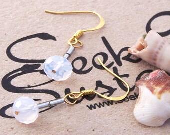 Handmade Earrings, Gold Plated Swarovski Earrings, Swarovski Earrings, Crystal Earrings