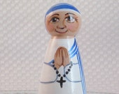 Blessed Mother Theresa of Calcutta Doll / Catholic Peg Doll / Catachesis of the Good Shepherd Toy / Catholic Toy Icon