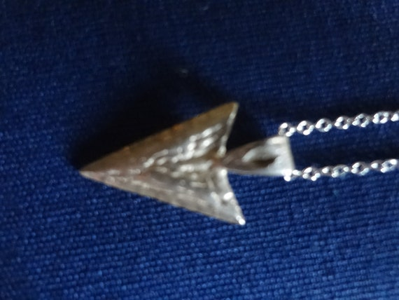 Sterling Silver Native American Indian Arrowhead Necklace 925
