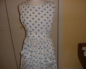 Cute hostess Pinafore Apron  June Cleaver would have loved this one 1950